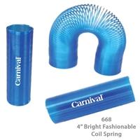 Translucent Tall Fun Coil Spring Shape Maker - Blue - E668