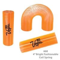 Translucent Tall Fun Coil Spring Shape Maker - Orange - E668