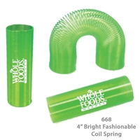 Translucent Tall Fun Coil Spring Shape Maker - Green - E668