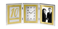Bulova Medallion Picture Frame Collection Clock