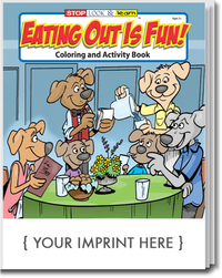 Eating Out Is Fun Coloring and Activity Book
