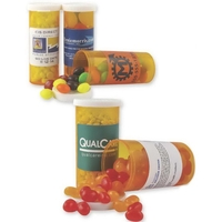 Promo Pill Bottle filled with Gourmet Jelly Beans