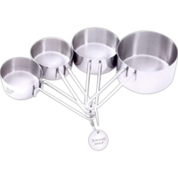 Chef's Secret (R) 4pc T304 Stainless Steel Measuring Cup Set
