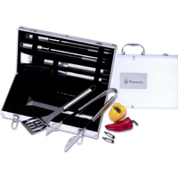 Chefmaster (TM) 22 pc Stainless Steel Barbeque Set