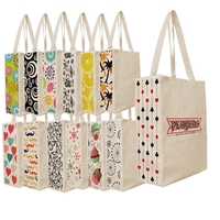 Gusset Accent Cotton Tote