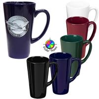 16oz Solid Color Cafe Latte Mug, four color