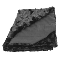 Designer Faux Fur Throw, Black