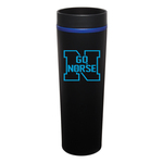 16 oz. Matte Black Stainless Steel Outer Shell with Color