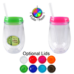 10oz Bev2Go Tumbler with Straw, four color