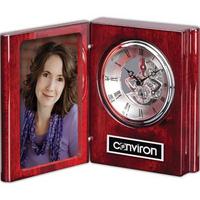 """Sanibel Clock - Rosewood/Chrome 6 1/2"""""""