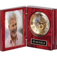 """Sanibel Clock - Rosewood/Gold 6 1/2"""""""
