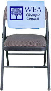 Fold over chair cover