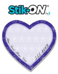 Stik-ON(R) Shape Adhesive Notes - Heart (2.8x2.6) - 25 Sheet
