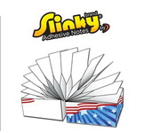 Slinky (TM) Brand Adhesive Notes Cubes - 2.75x2.75x2.75