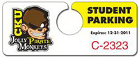 Plastic Hang Tag / Parking Permit- 2x5 - UV Coated (1S) - 10