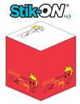 Stik-ON(R) - Adhesive Note Cubes - 2.75x2.75x2.75-3 Colors,