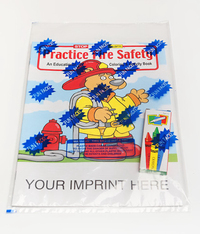 Practice Fire Safety Coloring and Activity Book Fun Pack