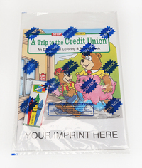 A Trip to the Credit Union Coloring Activity Book Fun Pack
