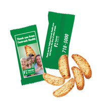 Custom Individually Wrapped Biscotti Cookie - Bakery Item