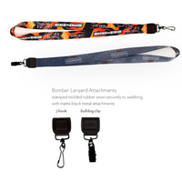 "1"" Sublimated Bomber Lanyard - Polyester, Molded Rubber"