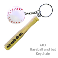 Baseball & Bat Key holder - E603