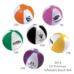 "Large Official Size Inflatable Beach Ball, Large 16"" - E618"
