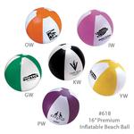 "Inflatable Beach Ball, Large 16"" - EAD618"