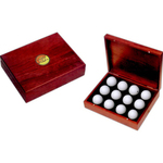 Rosewood Box For 12 Golf Balls