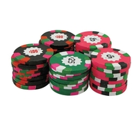8 Oz Bag Of $25 Chocolate Poker Chips