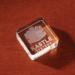 3D Crystal Square Paperweight - Large