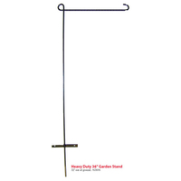 "36"" heavy duty garden flag stand"