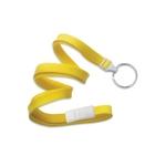Yellow Tube Blank Breakaway Lanyard with split ring
