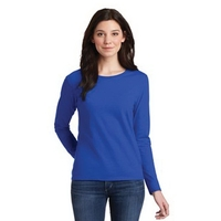 Gildan Ladies Heavy Cotton 100% Cotton Long Sleeve T-Shirt.