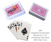 "Compact Playing Card Deck 2 1/4"" - Pink"