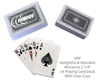 "Compact Playing Card Deck 2 1/4"" - Black"