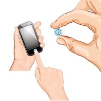 Get-A-Grip iHome Button Sticker