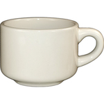 Cup, 7 oz Stackable, American White Stoneware Collection
