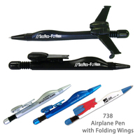 Airplane Ballpoint Pen #e738VC - Black