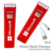 Superior 2200 mAh Power Bank Portable Charger E810 - Red