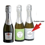 Champagne Mini Favors with Custom Label