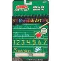 On the Go Scratch Art - ABC & 123 Writing Pad