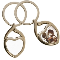 Twisted Heart Key Ring