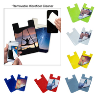 Silicone Card Wallet with Microfiber Cloth