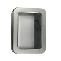 Metal Window Tin with Hinged Lid