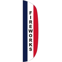 3' x 15' Message Flutter Flag - Fireworks