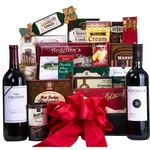 Many Thanks Wine & Cookie Gift Basket