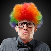 Rainbow Clown Costume Wig