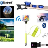iBank®Selfie Stick+Bluetooth Shutter+Fisheye Camera Len