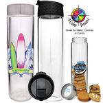 16oz Glass Cylinder Bottle, four color