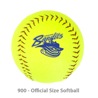 Official Size Softball With Vulcanized Core